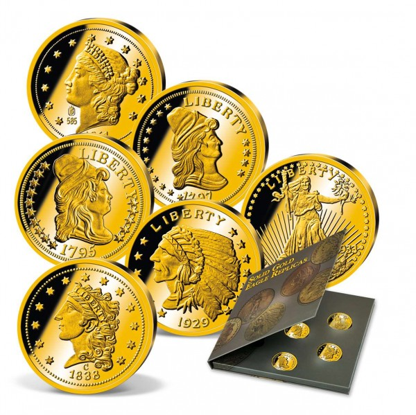 "Komplett-Set Gold-Neuprägungen ""Solid Gold Eagle Replicas"" CH_9322300_1"
