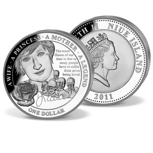 "Gedenkmünze 1 Dollar ""Diana Charity Tribute"" CH_1683010_1"