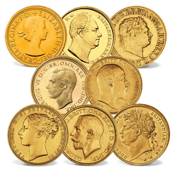 "8er Goldmünzen-Set ""200 Jahre Sovereigns"" CH_2460232_1"