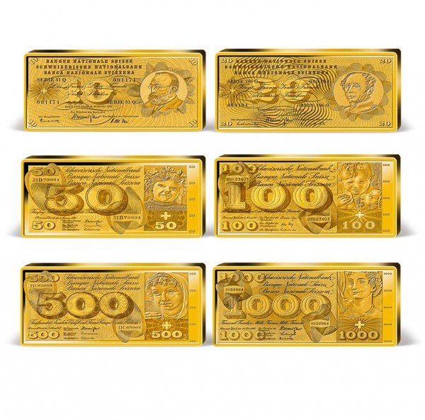 "Komplett-Set ""Franken Banknoten"" in Barrenform CH_9037712_1"